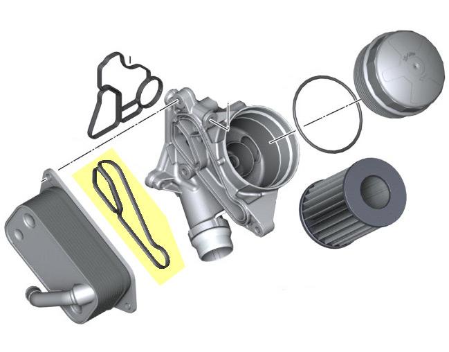 Oil Cooler Heat Exchanger Gasket Oem E82 F22 E9x F3x
