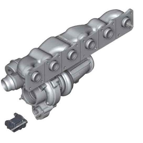 Turbocharger with Manifold, BMW - E70 X5 35i, E71 X6 35i N55
