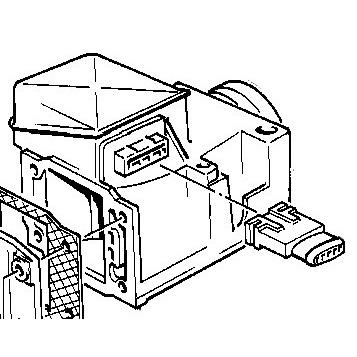 Genuine Bmw Fuel System Volume Air Flow Sensor 13621307019
