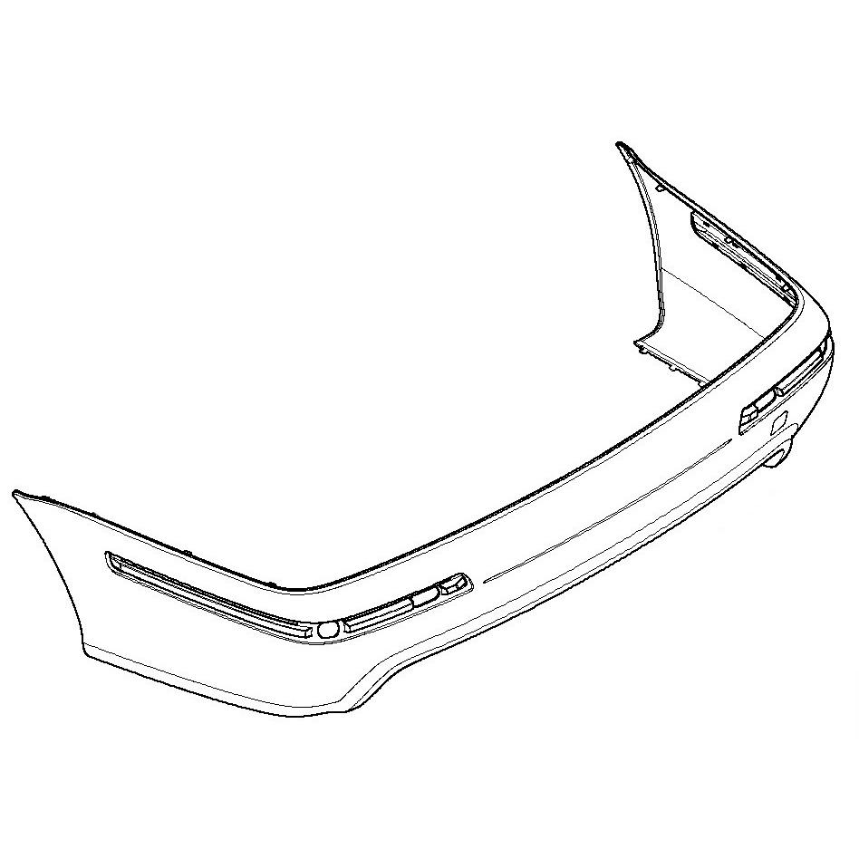 genuine bmw rear bumper cover e39 m5 540i 530i 528i 525i 51122498489 with pdc