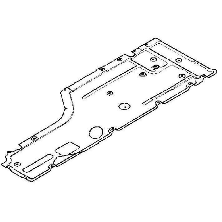 genuine bmw trim underbody paneling left e60 e61 51717033757