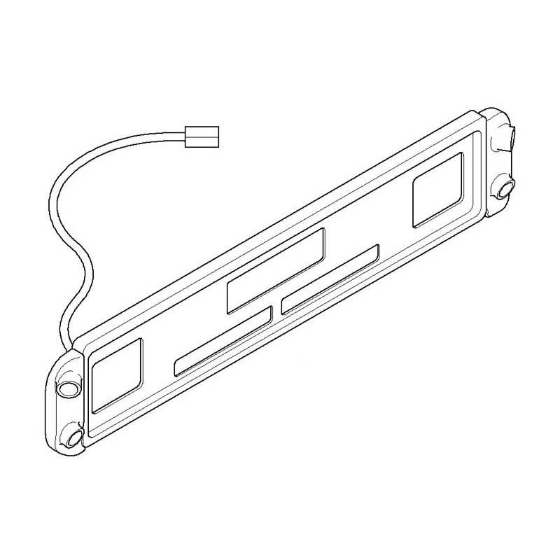 Genuine BMW Retrofit Kit For PDC-II, Rear - 66210395009