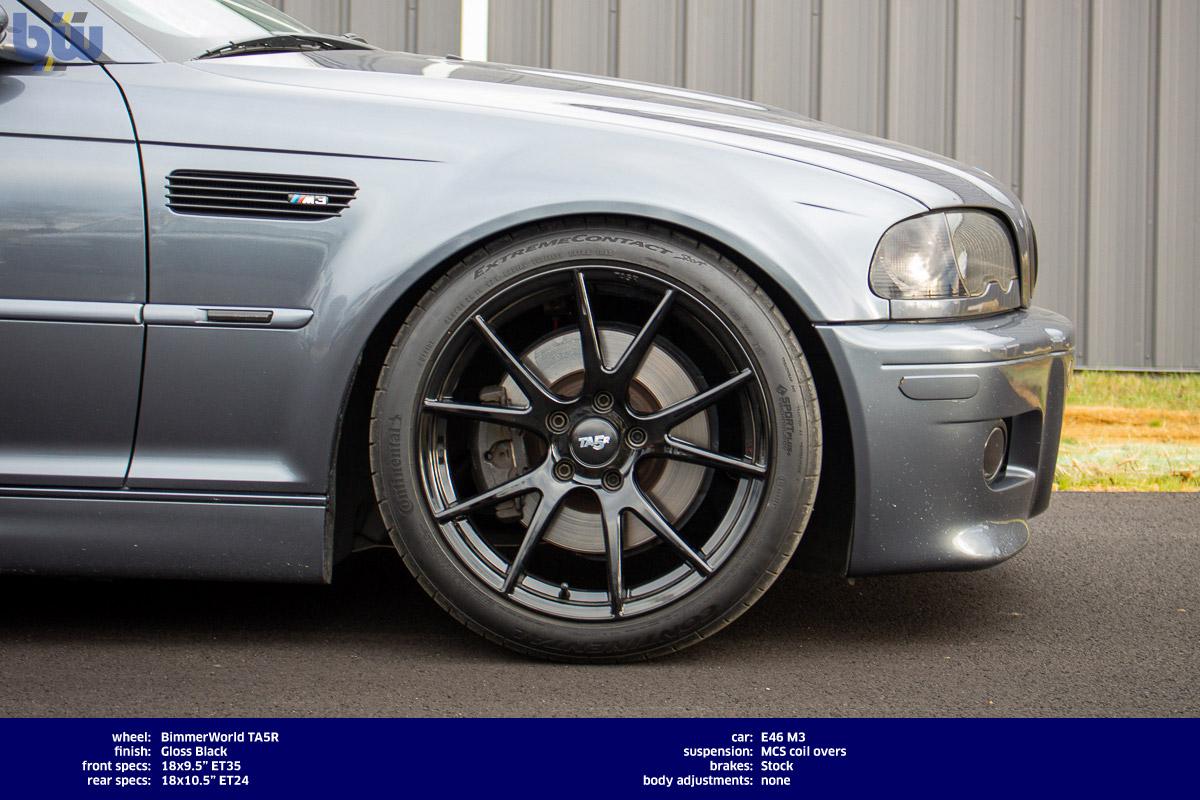 Bimmerworld 18x9 5 Et35 Ta5r Wheel Set E46 M3