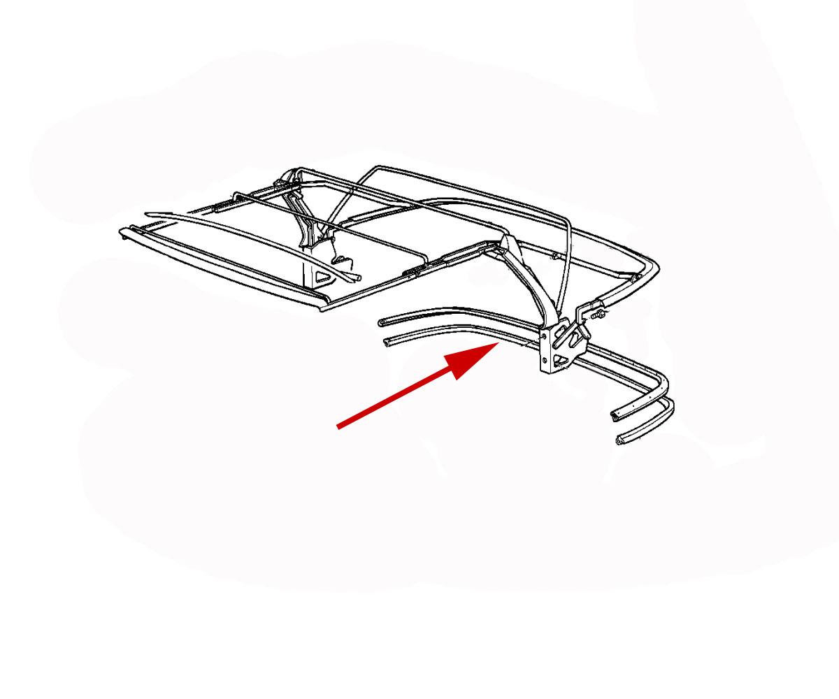 Rear Edge Seal For Convertible Top