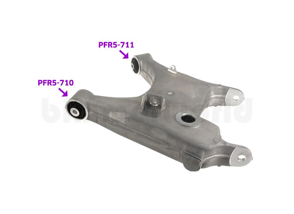 Powerflex Urethane Rear Lower Arm Front Bushings - E60/E61, E63/E64, E53 X5