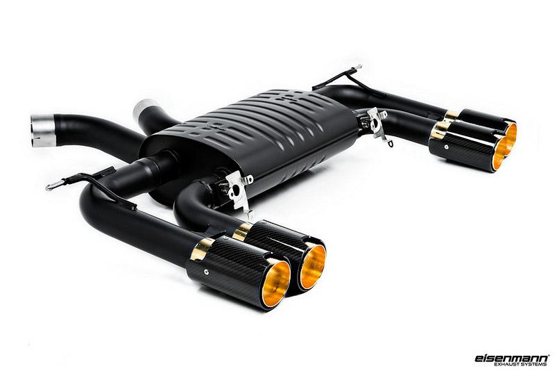 Eisenmann Sport Exhaust with Carbon Fiber/Gold 90mm Tips - F85 X5M, F86 X6M
