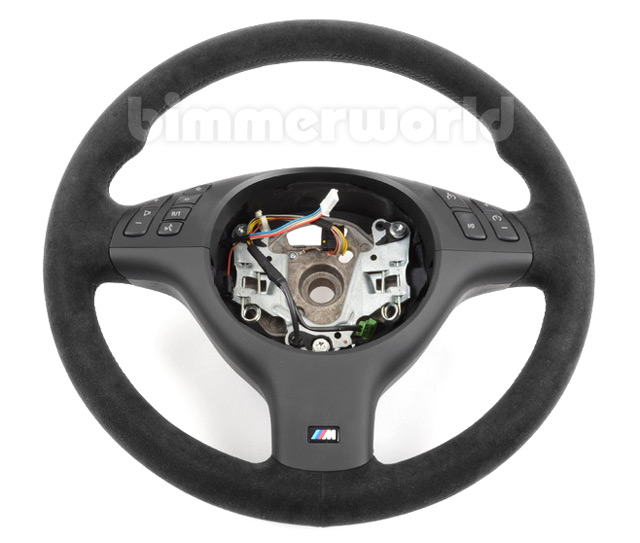 BMW Motorsport E46 Sport Alcantara Steering Wheel - with Multi-Function