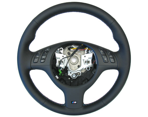 bmw e46 m3 steering wheel fits all e46 w round sport airbag. Black Bedroom Furniture Sets. Home Design Ideas