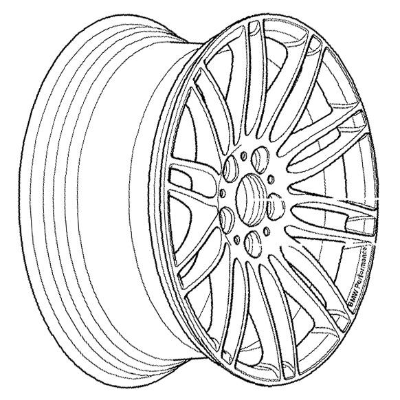 E46 Z4 Genuine Bmw Performance Style 269 18x8 5 Wheel