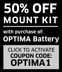 50% Off OPTIMA Battery Mount Kit
