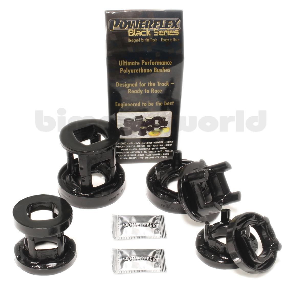 Powerflex Urethane Track-Series Rear Subframe Inserts - E90 335d, E91 all