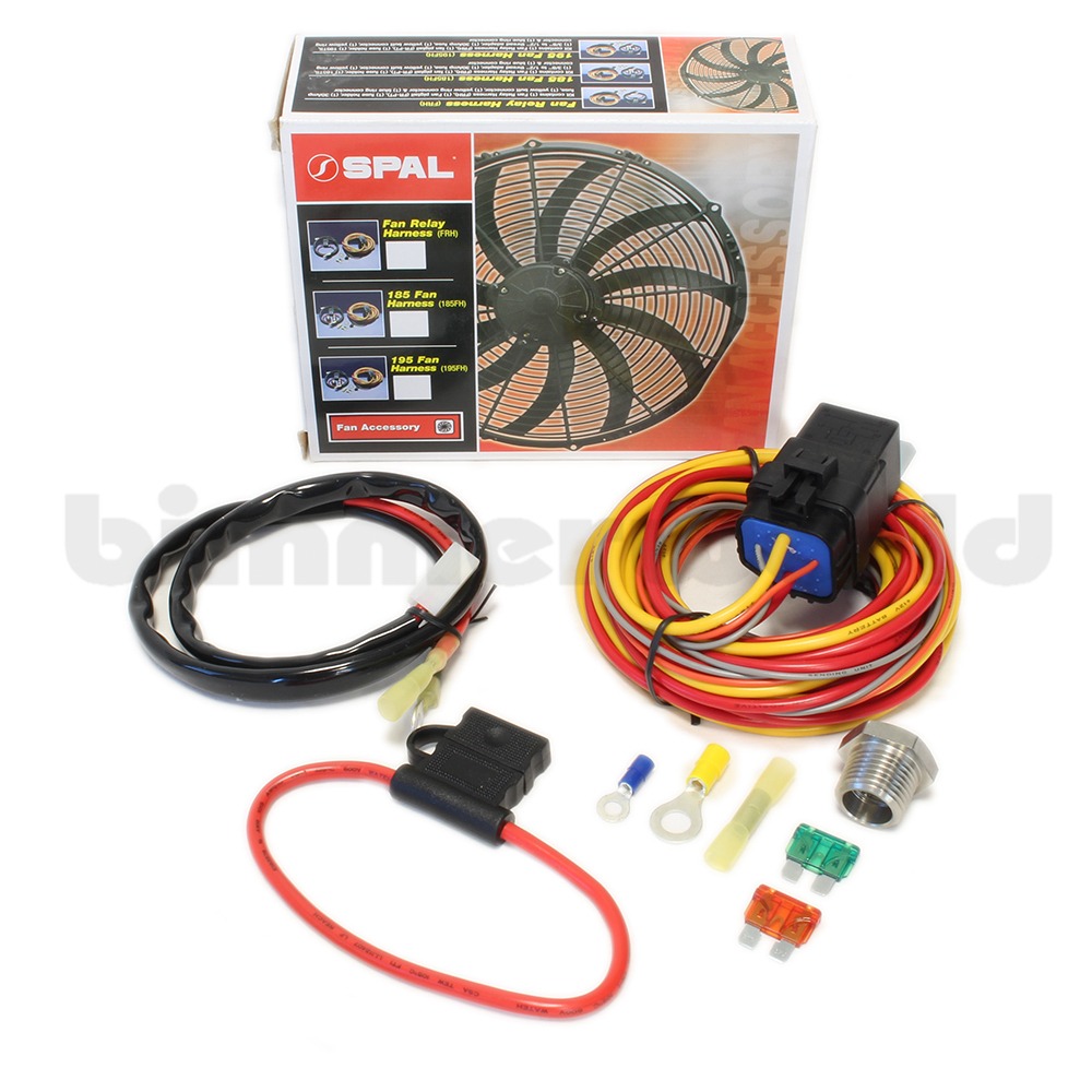 basic spal fan relay harness kit rh bimmerworld com spal fan wiring harness  spal fan wiring