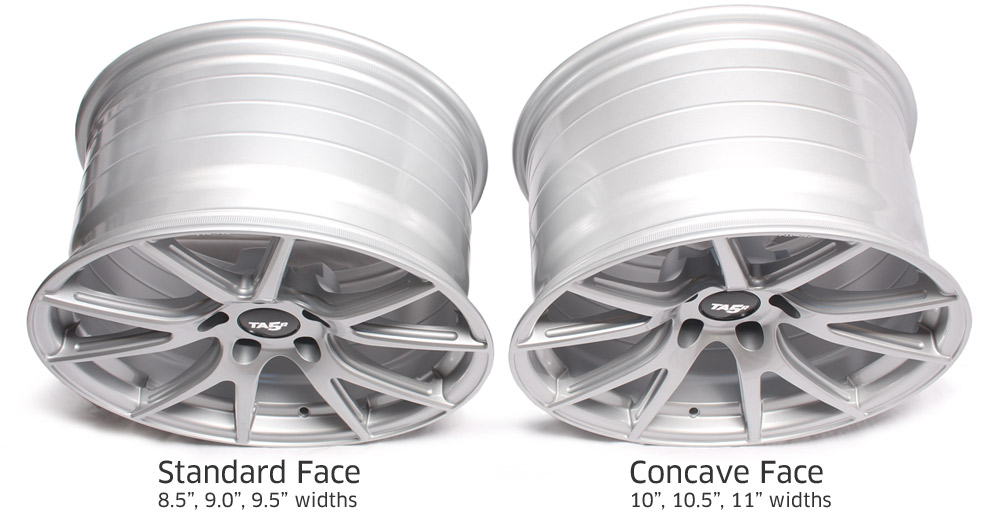 TA5R Wheel Face Profile - Standard vs Concave