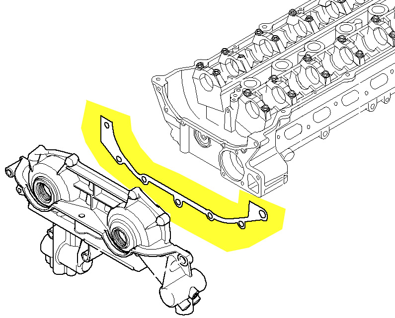 Bmw Vanos Unit Gasket  Steel  For M52tu  U0026 M54 Engines