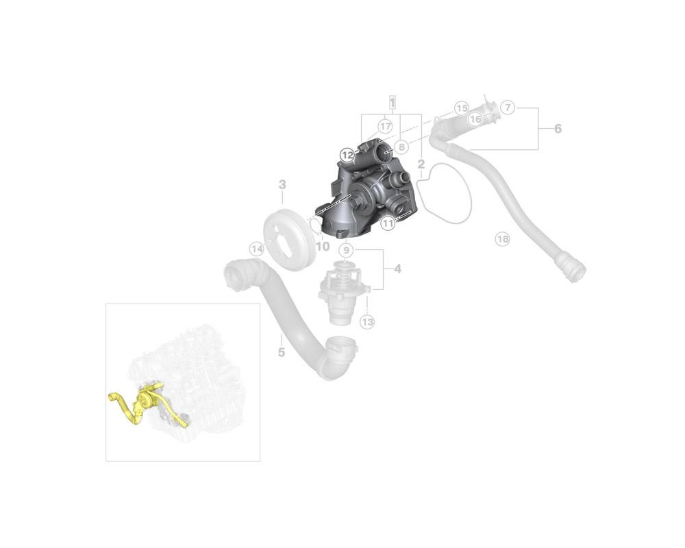 Water Pump, Genuine BMW - F87 M2 S55, F80 M3, F82 M4