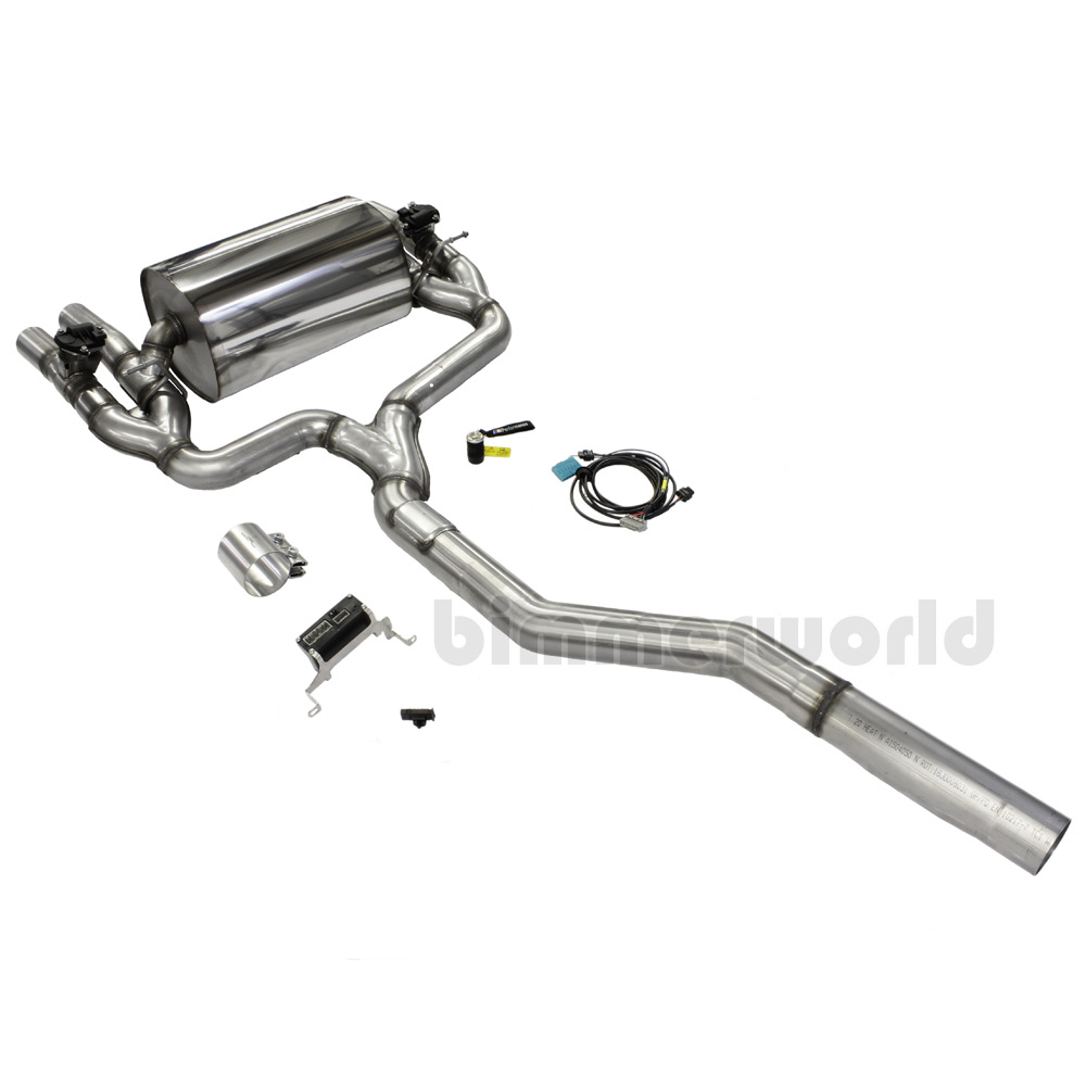 f87 m2 bmw m performance exhaust system w bluetooth valve. Black Bedroom Furniture Sets. Home Design Ideas