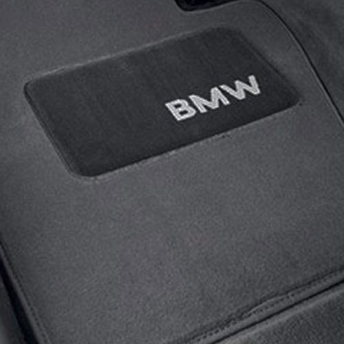 Genuine Bmw Logo Floor Mat Set Grey E46 82111470423