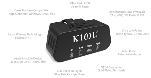 Kiwi 3 New Smaller Faster OBD Scan Tool