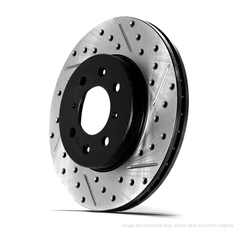 FRONT Performance Cross Drilled Slotted Brake Disc Rotors TB3185